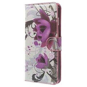 iPhone 6 Plus / 6S Plus Wallet Leren Hoesje Lotusbloem