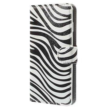 iPhone 6 Plus / 6S Plus Wallet Leren Hoesje Zebra