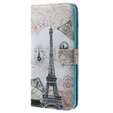 iPhone 6 Plus / 6S Plus Wallet Leren Hoesje Eiffeltoren