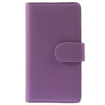 Wallet leren hoesje voor samsung galaxy alpha   paars  een hoge kwaliteit zachte portemonnee case voor uw ...