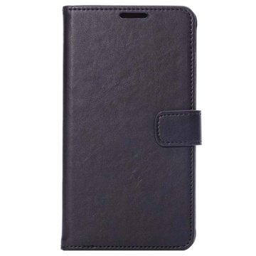 Samsung Galaxy Note 4 Wallet Leren Hoesje Zwart