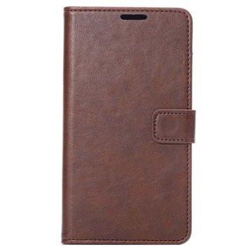 Samsung Galaxy Note 4 Wallet Leren Hoesje Coffee