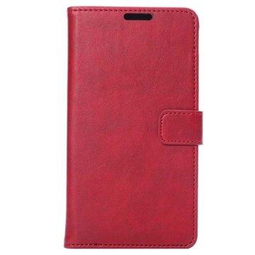 Samsung Galaxy Note 4 Wallet Leren Hoesje Rood