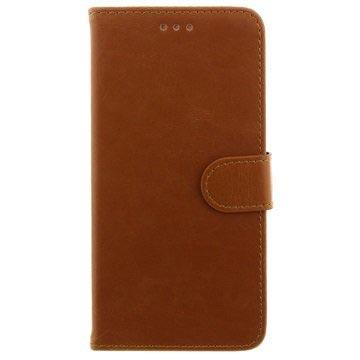 iPhone 6 Plus / 6S Plus Wallet Leren Hoesje Bruin