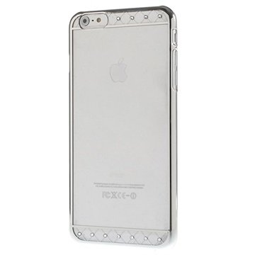 iPhone 6 Plus / 6S Plus X-Fitted Swarovski Crystal Hard Cover - Lace Zilver