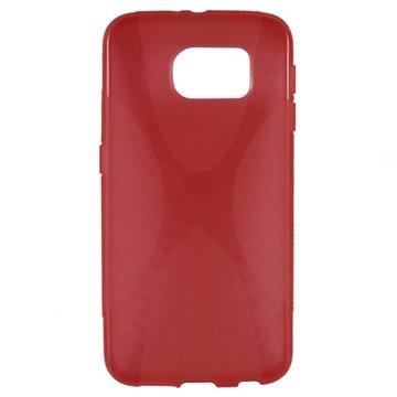 Samsung Galaxy S6 X-Shape TPU Case Rood