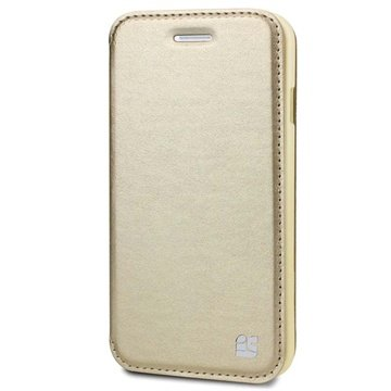 iPhone 6 / 6S Beyond Cell Infolio A Wallet Leren Hoesje Champagne