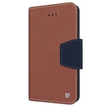 iPhone 6 Plus Beyond Cell Infolio Wallet Leren Hoesje Bruin / Blauw