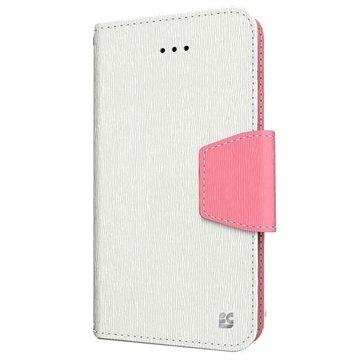 iPhone 6 Plus Beyond Cell Infolio Wallet Leren Hoesje Wit / Roze