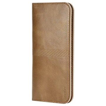iPhone 6 Plus / 6S Plus Rock Wallet Hoesje Bruin