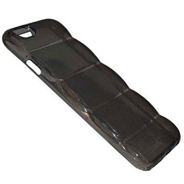 iPhone 6 Plus Barrel TPU Hoesje Doorzichtig Zwart