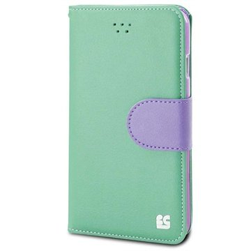 iPhone 6 Plus Beyond Cell Infolio B Wallet Leren Hoesje Mint / Paars