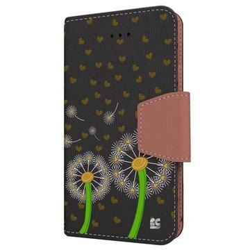 iPhone 6 Plus Beyond Cell Infolio Design Wallet Leren Hoesje Paardenbloem Liefde