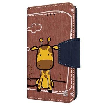 iPhone 6 Plus Beyond Cell Infolio Design Wallet Leren Hoesje Giraf