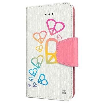 iPhone 6 Plus Beyond Cell Infolio Design Wallet Leren Hoesje Regenboog Hart