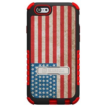 iPhone 6 Plus Beyond Cell Tri Shield Design Hybride Cover Amerikaanse Vlag