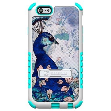 iPhone 6 Plus Beyond Cell Tri Shield Design Hybride Cover Blue Peacock