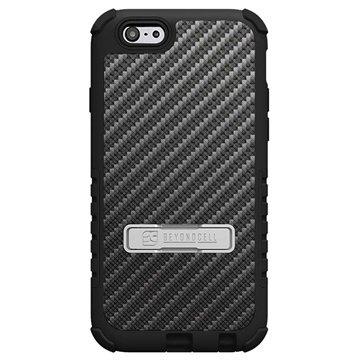 iPhone 6 Plus Beyond Cell Tri Shield Design Hybride Cover Achterkant van carbonvezel