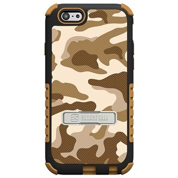 iPhone 6 Plus Beyond Cell Tri Shield Design Hybride Cover Desert Storm Camouflage