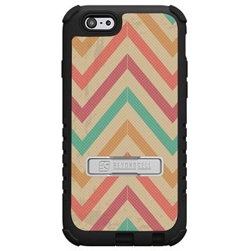 iPhone 6 Plus Beyond Cell Tri Shield Design Hybride Cover Pastel Chevron