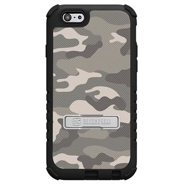 iPhone 6 Plus Beyond Cell Tri Shield Design Hybride Cover Zand Camouflage