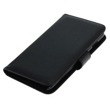 iPhone 6 Plus / 6S Plus Bookstyle Flip Leren Case Zwart