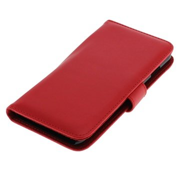iPhone 6 Plus / 6S Plus Bookstyle Flip Leren Case Rood