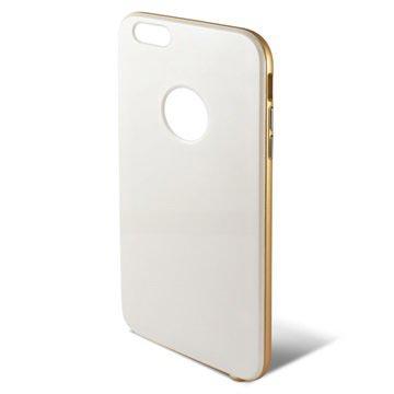 iPhone 6 Plus / 6S Plus Ksix Hybrid Hard Cover Wit / Goud