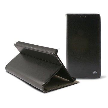 iPhone 6 Plus Ksix Staander Folio Leren Tas Zwart