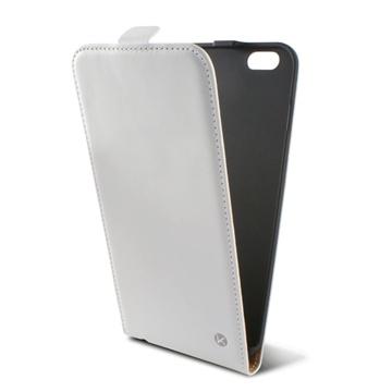 iPhone 6 Plus / 6S Plus Ksix Vertical Flip Leren Case Wit