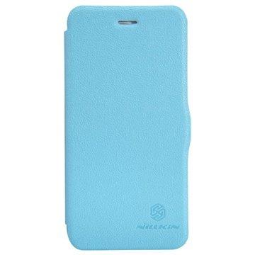 iPhone 6 Plus / 6S Plus Nillkin Fresh Series Flip Leren Case Blauw