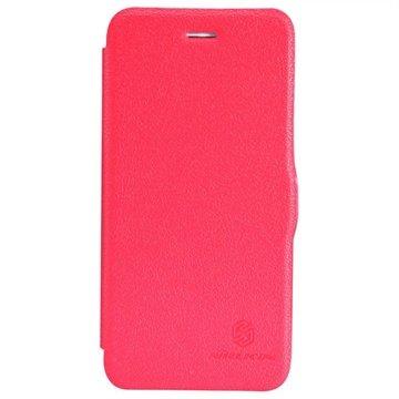 iPhone 6 Plus / 6S Plus Nillkin Fresh Series Flip Leren Case Rood