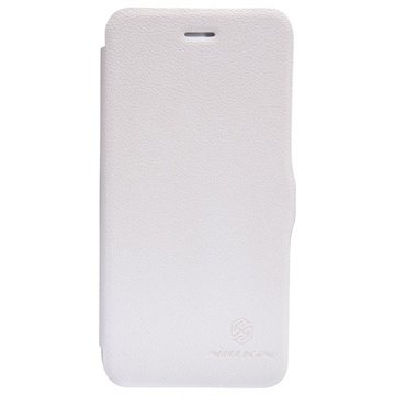 iPhone 6 Plus / 6S Plus Nillkin Fresh Series Flip Leren Case Wit