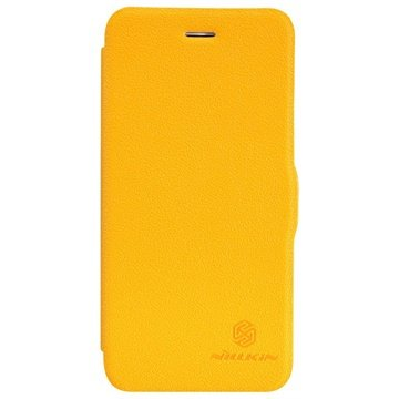iPhone 6 Plus / 6S Plus Nillkin Fresh Series Flip Leren Case Geel
