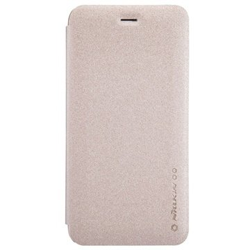 iPhone 6 Plus / 6S Plus Nillkin Sparkle Series Flip Leren Case Champagne