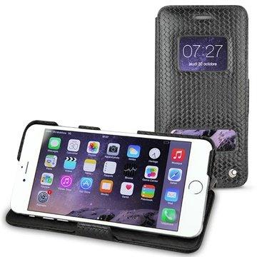 iPhone 6 Plus Noreve Tradition D Flip Leren Case Abaca Zwart