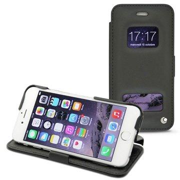 iPhone 6 Plus Noreve Tradition D Flip Leren Case Perpétuelle Zwart
