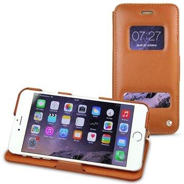 iPhone 6 Plus Noreve Tradition D Flip Leren Case Perpétuelle Bruin