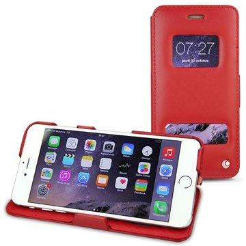 iPhone 6 Plus Noreve Tradition D Flip Leren Case Perpétuelle Rood