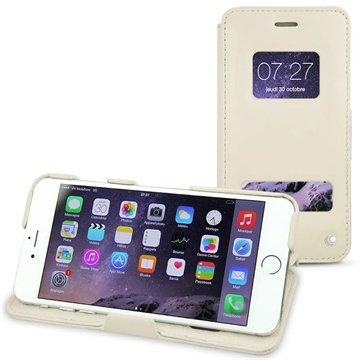 iPhone 6 Plus Noreve Tradition D Flip Leren Case Perpétuelle Wit