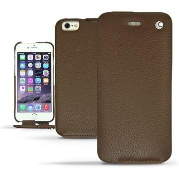 iPhone 6 Plus Noreve Tradition Flip Leren Case - Ambition Châtaigne