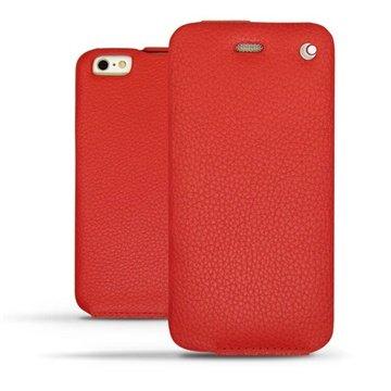 iPhone 6 Plus Noreve Tradition Flip Leren Case - Ambition Tomate