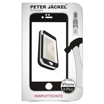 iPhone 6 Plus / 6S Plus Peter Jäckel Full Display HD Glass Displayfolie Zwart