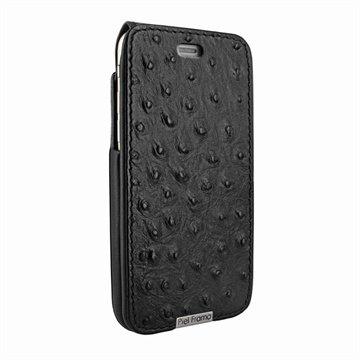 iPhone 6 Plus / 6S Plus Piel Frama iMagnum Leren Case Ostrich Patterns Zwart