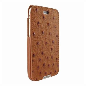 iPhone 6 Plus / 6S Plus Piel Frama iMagnum Leren Case Ostrich Patterns Tan