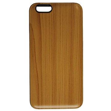 iPhone 6 Plus UreParts Hard Cover - Wood Lichtbruin