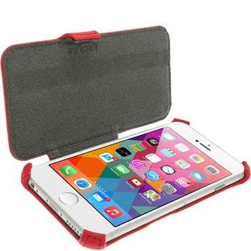 iPhone 6 Plus / 6S Plus iGadgitz Flip Leren Case Rood