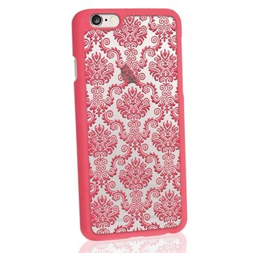 iPhone 6 / 6S iGadgitz 3D Designer Collection Damask Pattern Hard Cover Roze