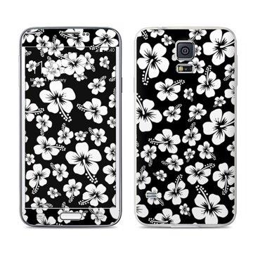 Dit is geen cover, dit is een decoratieve beschermde skin sticker!samsung galaxy s5 aloha black skin  mete ...