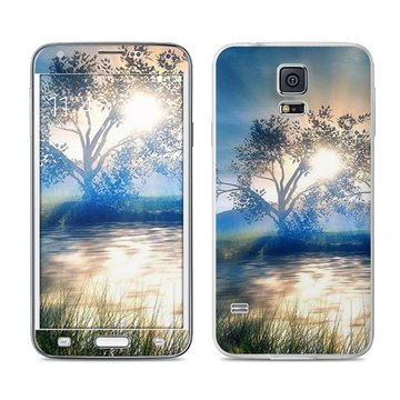 Dit is geen cover, dit is een decoratieve beschermde skin sticker!samsung galaxy s5 bayou sunset skin  mete ...